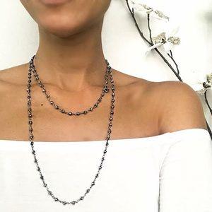 Sara Blaine/eSBe Caviar Hermatite Necklace